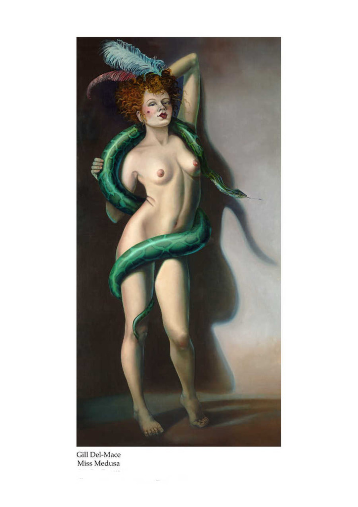 Print Decor Gill Del Mace  Miss Medusa