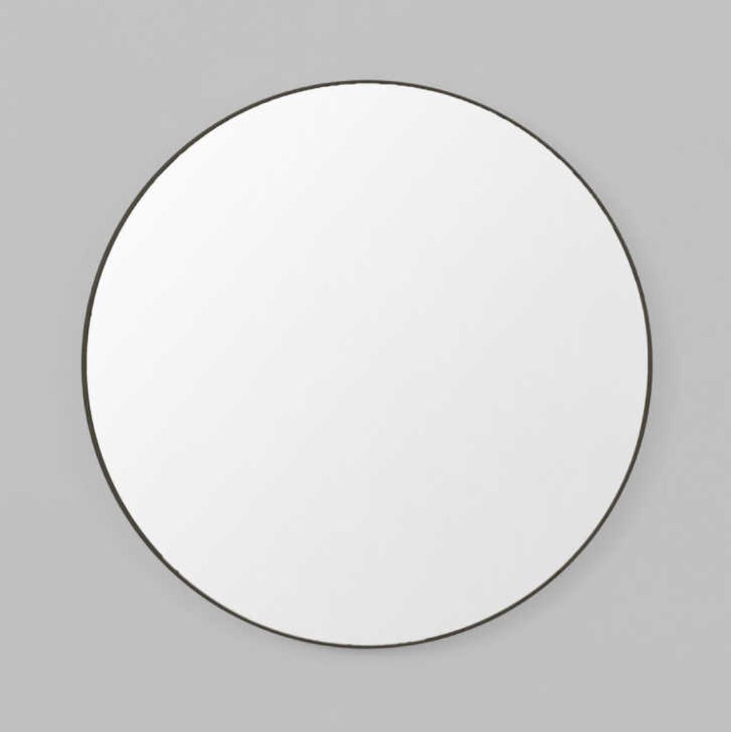 Print Decor | Modern Circular Mirror | Black