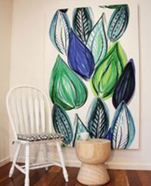 Scandi wall fabric art @ Print Decor, Melbourne