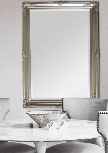 Print Decor Princess silver frame mirror