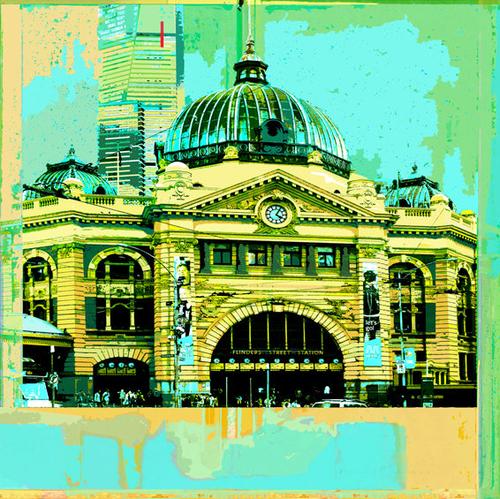 Flinders Street Station (Aqua)