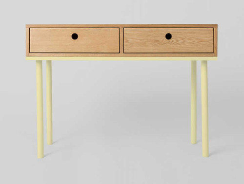 MODERN FURNITURE | ZAC CONSOLE: LEMON | PRINT DECOR | FRONT VIEW
