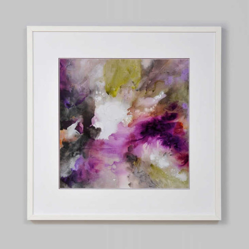 Print Decor | Purple abstract framed print