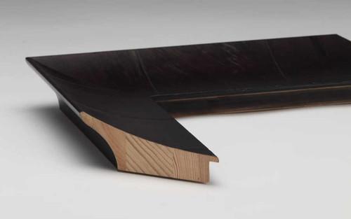 Olive Veneer Black Timber   Print Decor   Side View