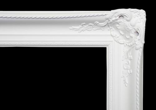 Classic Antique Victorian Frame White