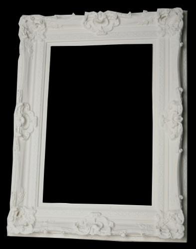 Grand Ornate White Frame