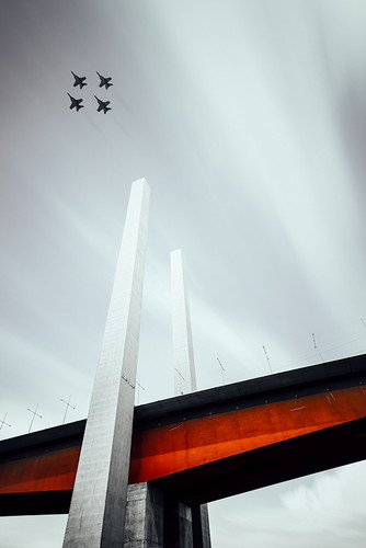 Photography | Bolte Bridge Fighter Jets | Nick Psomiadis