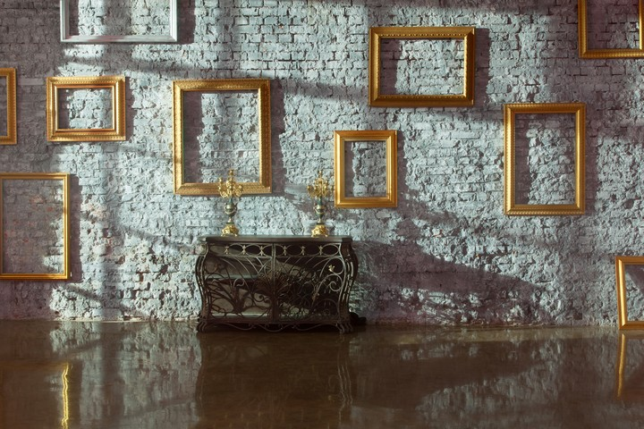 Gold Frames in a Modern room. Interior Decor, Melbourne
