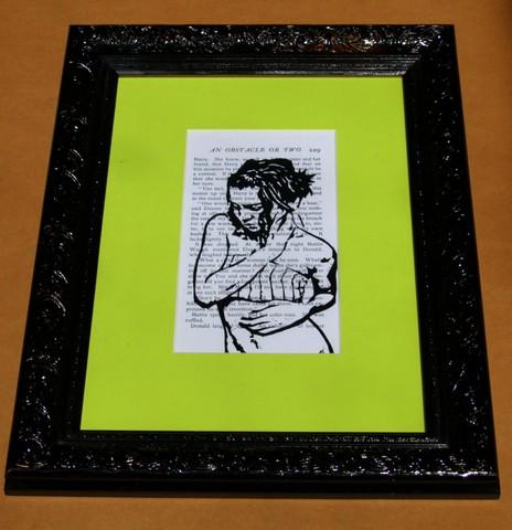Modern Picture Framing-Black Ornate Frame-Bright Mat