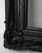 Print Decor Grand Ornate Black Frame Detail