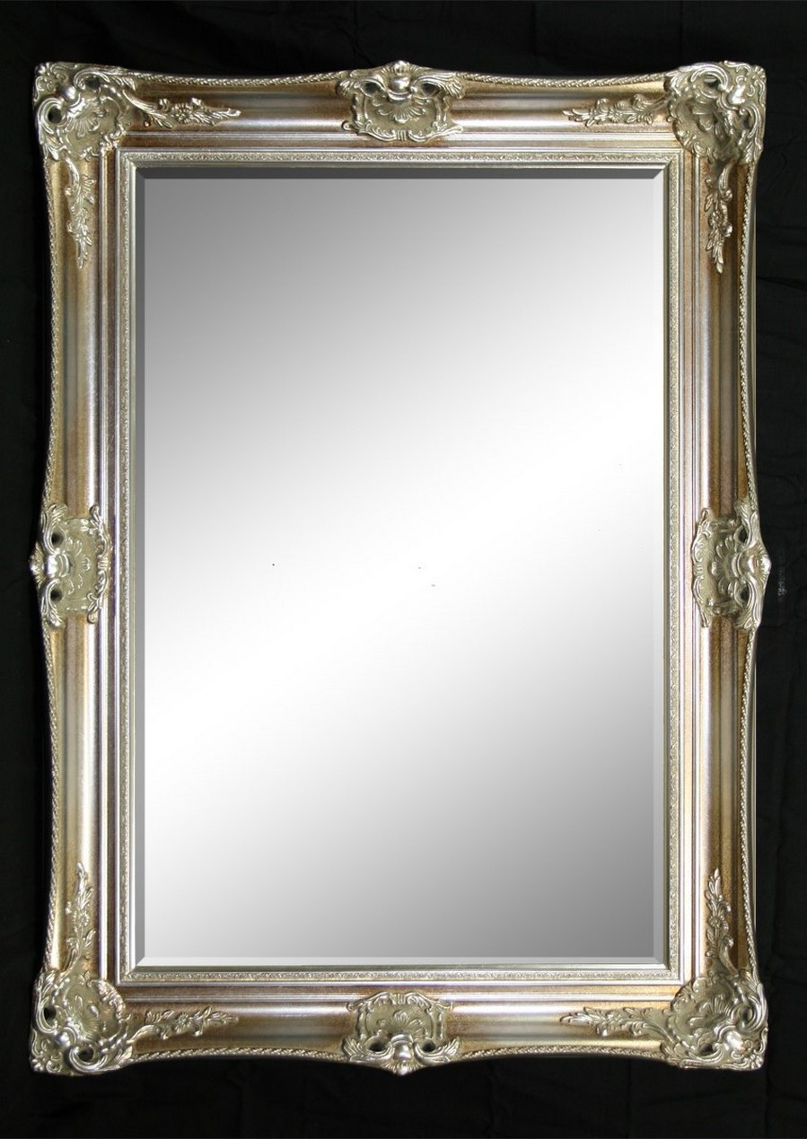 Classic antique ornate victorian mirror silver print for Victorian mirror