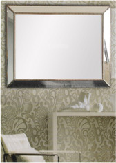 Print Decor Reverse Beaded Angle Mirror
