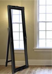 PRINCESS FREE STANDING FLOOR MIRROR BLACK