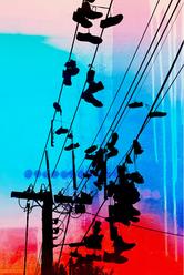 Jan Neil | Shoes On Easy Street (Red & Aqua)