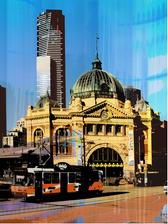 Jan Neil   Flinders Street Station & Tram