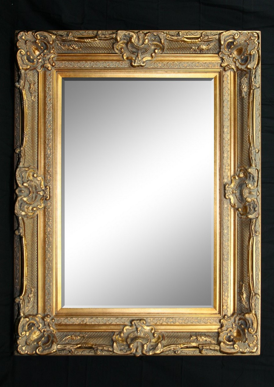 Grand ornate gold standing mirror for Gold standing mirror