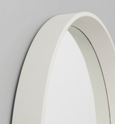 Round White Mirror | Detail | Print Decor