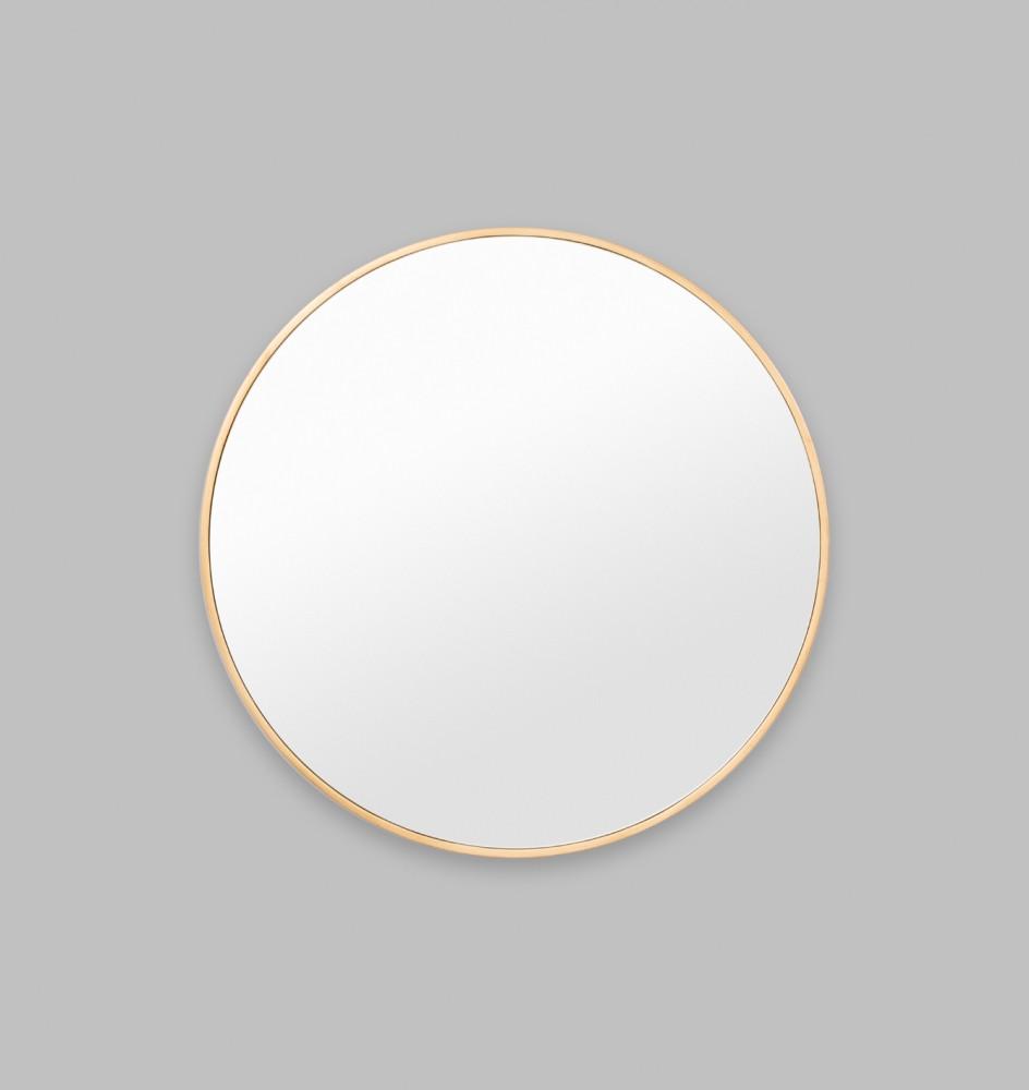 Modern round brass mirror Modern round mirror
