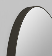 Print Decor | Modern Round Mirror | Black | Detail