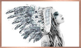 Framed Print | Girl in American Indian Headdress | Print Decor, Malvern