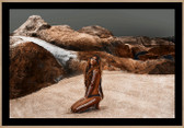 Girl in Nature in the Rocks | Designer Framed Print | Print Decor, Melbourne