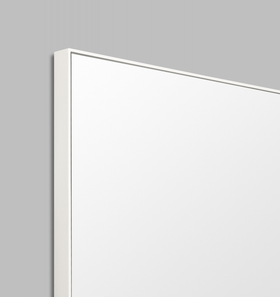 Errol tall or long framed mirror in black mid grey white for Long black wall mirror