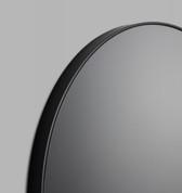 Modern Circular Mirror - Black Storm