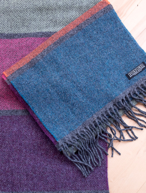 Panel Stripe Wool Scarf