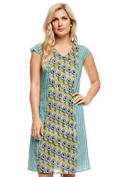 Elle Dress Mystic & Tic Tac Blue