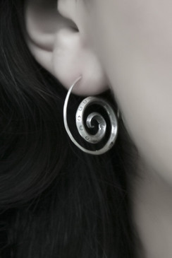 Infiny Spiral Silver Earrings