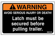 Label, Warning Latch Secure