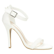 Jessica Strappy White High Heel Sandal