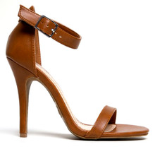 Jessica Strappy Chestnut High Heel Sandal