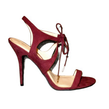 wild diva burgundy ruby wine sandals heels
