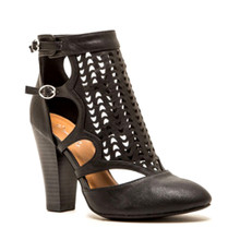 *FEATURED* Trio Black High Heel Ankle Booties with Back Zipper
