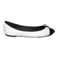 Black & White Ballet Flat with Bow