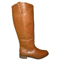 *FEATURED* Tan Leatherette Round Toe Knee High Riding  Boot