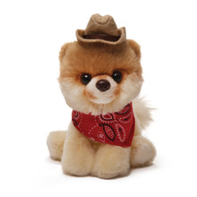 Itty Bitty Boo #016 Cowboy, cowboy dog, itty bitty dog, dog with hat, puppy dog cute, scarf dog, red scarf boo dog,