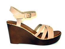 Leah Nude Wedge Sandal