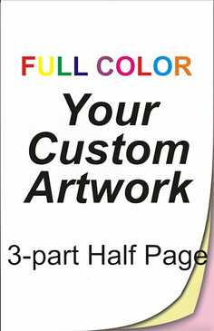 full color, half page, 3 part, ncr forms, ncr printing, 5.5 x 8.5, custom, 4 color, four color, custom ncr forms