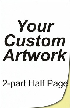 half page, 2 part, 5.5 x 8.5, 8.5 x 5.5, carbonless forms, carbonless form printing, custom carbonless forms, form printing, custom forms