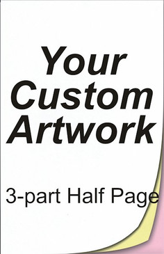 half page, 3 part, 5.5 x 8.5, 8.5 x 5.5, carbonless forms, carbonless form printing, custom carbonless forms, form printing, custom forms