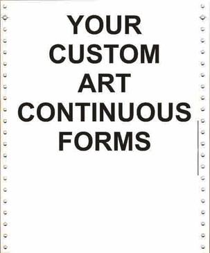 4 part, continuous carbonless forms, continuous forms, continuous paper, continuous feed paper, continuous form paper