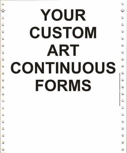 5 part, continuous carbonless forms, continuous forms, continuous paper, continuous feed paper, continuous form paper