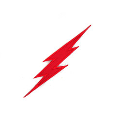 "#1310D Lightning Bolts 5"" RED"