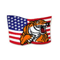 """#1384 TIGER/FLAG  3.5"""""""