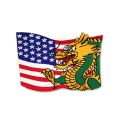 #1385 DRAGON/FLAG  3.5""
