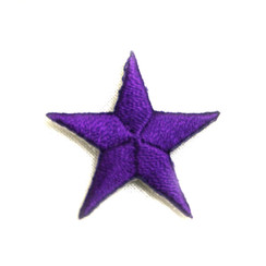 "Color Stars 1""  (50 PK) PURPLE"