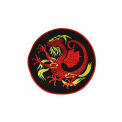 #1477 RED DRAGON BLK BACKROUND 8""