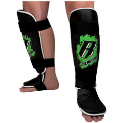 Revgear Youth Shin Guards: Green
